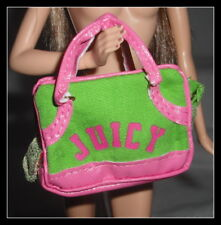 PURSE BARBIE DOLL MODEL MUSE JUICY COUTURE GREEN PET CARRIER HANDBAG ACCESSORY