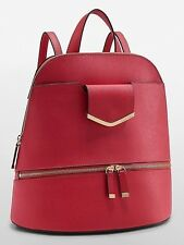 NEW $198 Calvin Klein On My Corner Saffiano Leather Watermelon Backpack Handbag