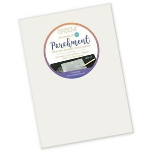10  x A4 Pergamano Groovi Clear Parchment Paper Sheets - Crafts Art