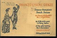 """Edgar H. Hunt : """" Französische Tänze aus dem 18. Jahrhundert """" für 2 Blockflöten"""