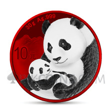 CHINA PANDA 2019 10 Yuan 1oz - SPACE RED