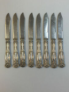 Vintage Wm A. Rogers Warranted 12 Dwt Fruit Knifes Set of 8