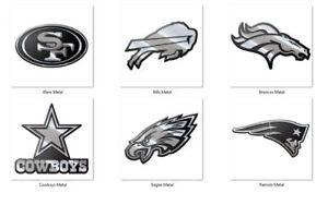 NFL Team 3-D Chrome Heavy Metal Emblem Team ProMark/FANMATS -Select- Team Below