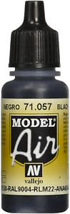 Vallejo Model Air 17 ml Acrylic Paint - Black