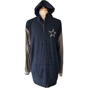 mitchell & ness Dallas Cowboys hoodie Men's  4XL XXXXL blue/gray