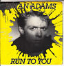 "BRYAN ADAMS  Run To You PICTURE SLEEVE 7"" 45 rpm record + juke box title strip"