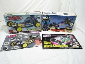 VINTAGE TEAM LOSI &  TEAM ASSOCIATED plus other RC boxes or lids only