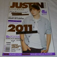 JUSTIN BIEBER FOREVER GIRLFRIEND COLLECTOR'S EDITION MAGAZINE HUGE POSTERS 2011