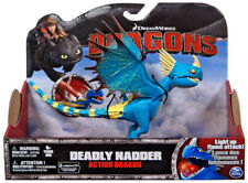 DEADLY NADDER DRAGON DREAMWORKS DRAGONS HOW TO TRAIN YOUR DRAGON LIGHT UP FLAME
