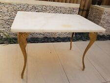 Marble top Coffee / side table with brass legs
