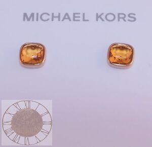 Michael Kors Earrings, Cushion Cut Stud Earrings MKJ4227, New