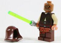 LEGO STAR WARS HOODED JEDI KNIGHT KAO MINIFIGURE - MADE OF GENUINE LEGO PARTS