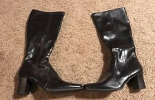 Women's Size 10 M Predictions Brown Tall Boots With Side Zip Shoes