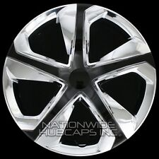"15"" Set of 4 Chrome Black Wheel Covers Snap On Hub Caps fit R15 Tire & Steel Rim"