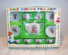 China Toy Tea Set-11 Pc Girl w/Flowers New Other