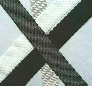 BLACK WHITE 6cm WIDE STRETCH WAVY ELASTIC WAISTBANDS CUFFS SAWING DRESSMAKING