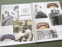 "SIGNED ""EMBLEMS OF HONOR RANGERS"" US WW2 KOREA SCROLL PATCH TAB REFERENCE BOOK"
