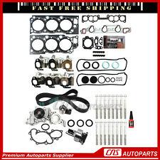 Head Gasket Bolt Timing Belt Kit Water Pump For 93-95 Toyota Pickup 4Runner 3.0L
