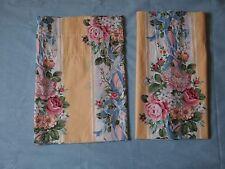 "Croscill PRINCESS Yellow Roses Window Valances  84"" x 18"" Nice & Crisp"