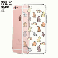 Rabbit Bunny Hare Clear TPU Case for iPhone 8 8+ 7 7+ plus Galaxy S8 S7 Note 8