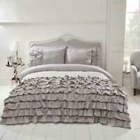 Belle Amie Flamenco Frills Grey Duvet Quilt Cover Bedding ~ FREE P&P ~