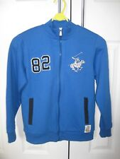 BNWT Beverly Hills Polo Club zip up sweat top Light/Electric Blue Age 9-10