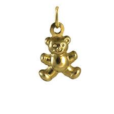 Hollow 9ct Gold Teddy Bear Charm