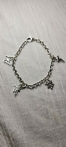 Rare Tiffany & Co Sterling Silver Butterfly Turtle Dragonfly Bee Charm Bracelet