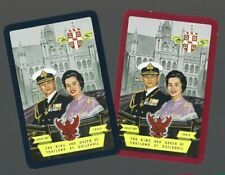WORSHIPFUL1960 PLAYING CARDS  2x SINGLE THE KING & QUEEN THAILAND IN LONDON  33