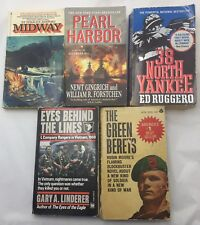 Vintage Paperback Books WWII Vietnam Korean War US Military Bundle Lot Of 5