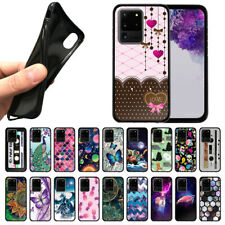 """For Samsung Galaxy S20 Ultra 6.9"""" 2020 TPU Black Silicone Case Protector Cover"""
