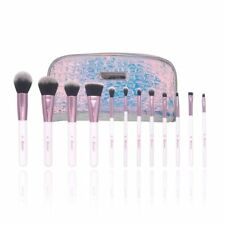 12 Piece BH Cosmetics Crystal Quartz Professional Make up Brushes Set With Bag