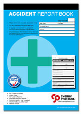 Cherry GDPR First Aid Accident Report Book A4 (210mm x 297mm) 50 page RIDDOR HSE