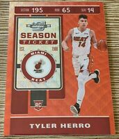 2019-20 Contenders Optic Tyler Herro RC Rookie Red Wave Tmall #125 Miami Heat