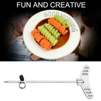 New Creative Vegetable Fruit Spiral Twist Knife Stainless Steel Manual M7H6