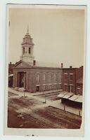 RARE - CDV Photo - Rochester NY c 1860s Downtown Street Scene