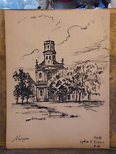 Feutre Metz Sablon Eglise St Simon André Simon 1926-2014 1961 Artiste Lorrain