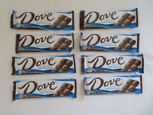 (8) Count Lot Of Dove Silky Smooth Promises Milk Chocolate Candy Bars 1.44 Oz *D