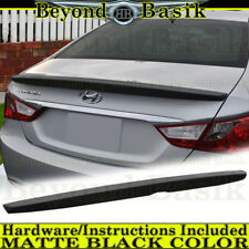 Fits 2011-2014 Hyundai Sonata Factory Style Spoiler Lip Trunk Wing MATTE BLACK
