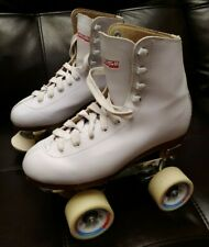 Chicago Ladies Roller Skates White Rink Lace Up Us 5 Eur 36 Retro Girls Womens