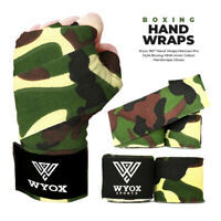 Wyox Hand Wraps Mexican Bandages Boxing Fist Inner Gloves Muay Thai MMA green