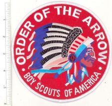 "OA Jacket Patch 6"" Round Red Felt Centennial Order of the Arrow Flap"
