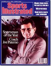 December 22, 1986 Joe Paterno, Penn State Nittany Lions Sports Illustrated A