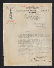 """BOUFARIK (ALGERIE) FINES & MARCS de la MITIDJA """"DISTILLERIES André CALVET"""" 1947"""