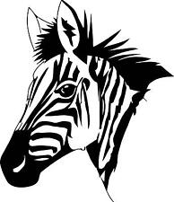 Zebra Head facing right  Vinyl Wall decal