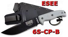 ESEE Model 6 Clip Point Serrated + Black Sheath 6S-CP-B