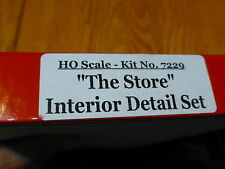 "Scale Structures Ltd. #7229 ""The Store"" Interior Detail Set Only (Lots of parts)"