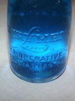 VINTAGE 1930-40S DAIRYLEA DAIRYMEN'S COOP ASSOC    1/2 PINT MILK BOTTLE