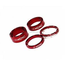"NEW KCNC HOLLOW 1 1/8"" HEADSET SPACER SET 3-5-10-14MM ROAD MTB - RED"