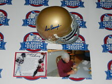 Ara Parseghian SIGNED Autographed  NOTRE DAME Schutt Mini Helmet W/ proof IRISH